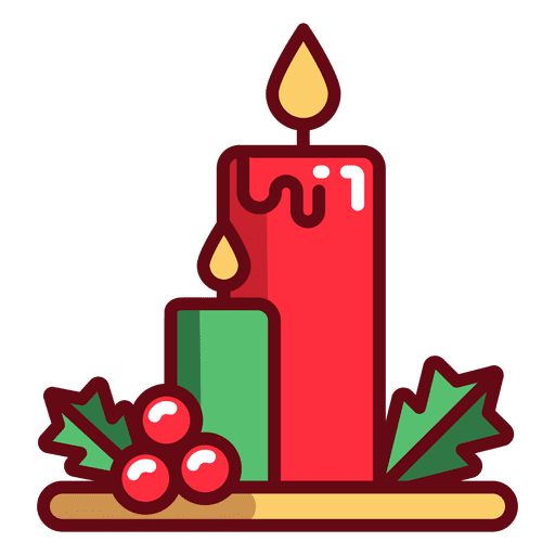 Christmas Candles Icon Transparent PNG