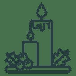 Velas de Navidad icono