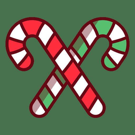 Bastón de caramelo de navidad Transparent PNG