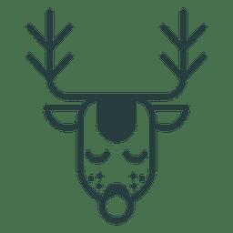 Icono de ciervo de navidad