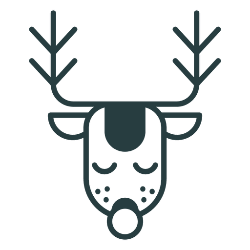 Christmas deer icon Transparent PNG