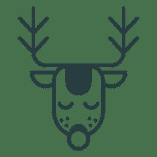 Icono de ciervo de navidad Transparent PNG