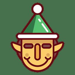 Cara de elfo de navidad
