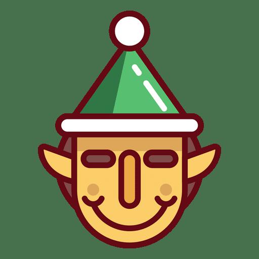 Cara de duende navideño Transparent PNG