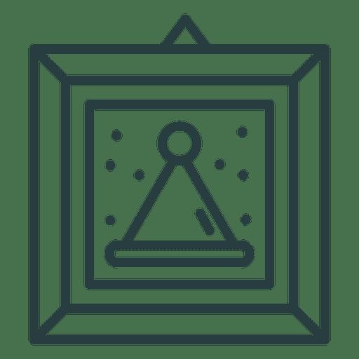 Icono de imagen enmarcada de Navidad Transparent PNG
