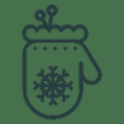 Icono de guante de Navidad