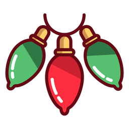 Icono de luces de navidad