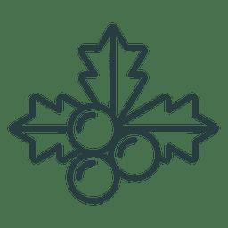 Navidad muérdago icono