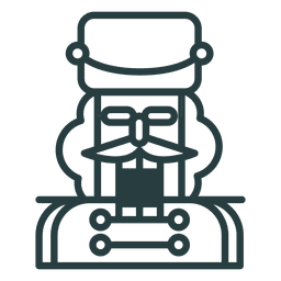 Christmas nutcracker icon