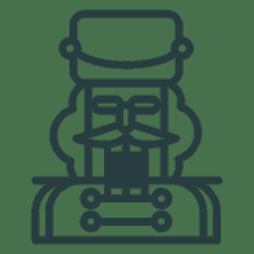 Icono de cascanueces de navidad Transparent PNG