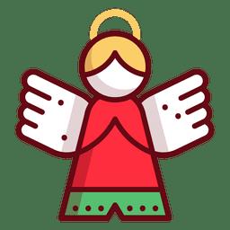 Ángel ornamento de navidad