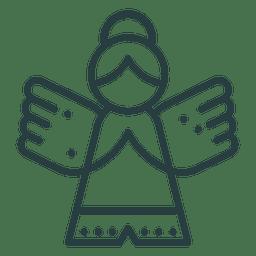 Ornamento de Navidad icono de ángel
