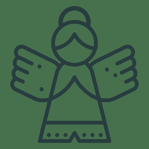 Ícone de anjo de enfeite de Natal Transparent PNG