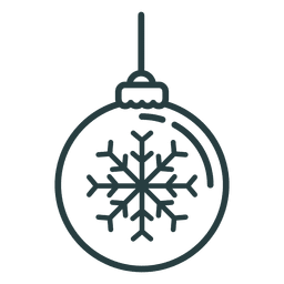 Christmas ornament ball icon