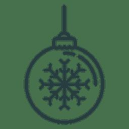 Navidad ornamento bola icono