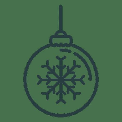 Ícone de bola de enfeite de Natal Transparent PNG