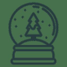 Icono de peso de papel de Navidad