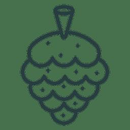 Icono de cono de pino de Navidad