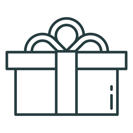 Ícone de presente de Natal Transparent PNG