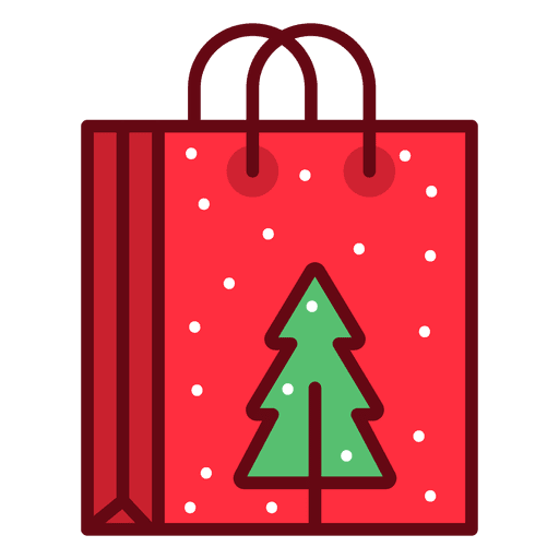 Christmas shopping bag Transparent PNG