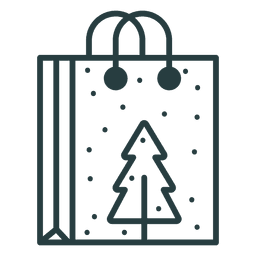 Christmas shopping bag icon