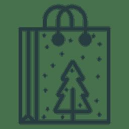 Icono de la bolsa de compras de Navidad