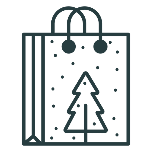 Christmas shopping bag icon Transparent PNG