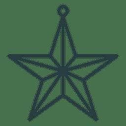 Estrella de Navidad icono