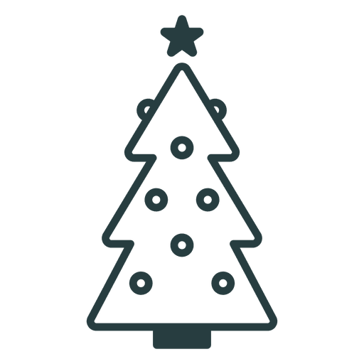 Christmas Tree Facebook Icon: Transparent PNG & SVG Vector