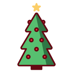 Christmas tree illustration