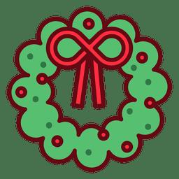 Ícone de grinalda de Natal