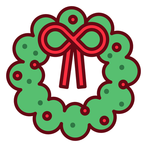 Christmas Wreath Icon Transparent PNG