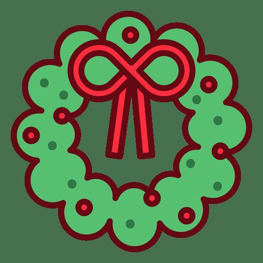 Icono de corona de Navidad
