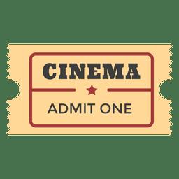 Bilhete de entrada de cinema