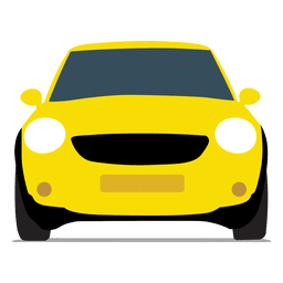 Vista frontal del coche de la ciudad