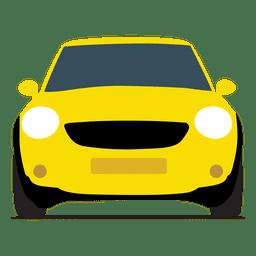 Vista frontal do carro de cidade
