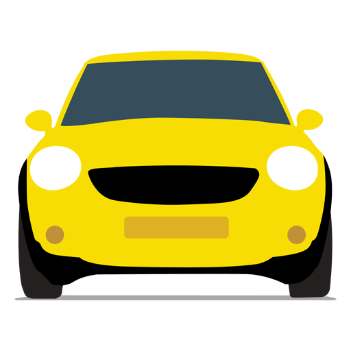 Vista frontal del coche de la ciudad Transparent PNG