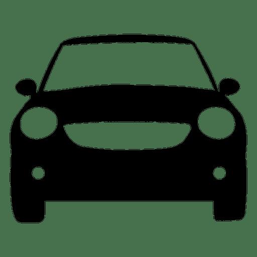Vorderansichtschattenbild des Stadtautos Transparent PNG