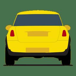 Vista trasera de coche de ciudad