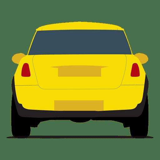 City car rear view