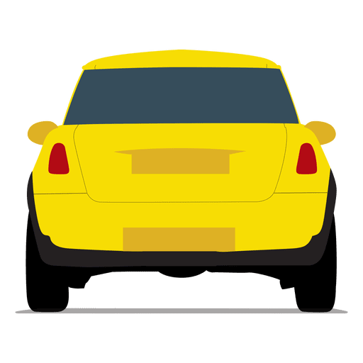 Vista trasera de coche de ciudad Transparent PNG