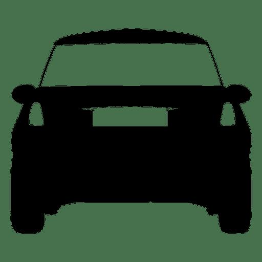 Silhueta de vista traseira de carro de cidade Transparent PNG
