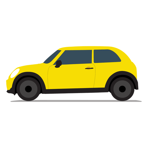 Vista lateral de carro de cidade Transparent PNG