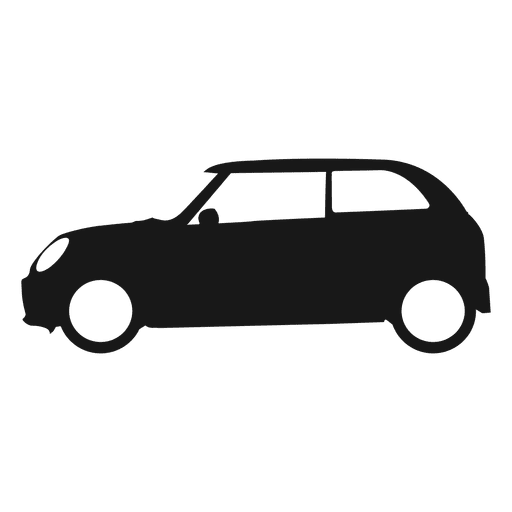 City car side view silhouette Transparent PNG