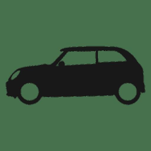 Silueta de vista lateral de coche de ciudad
