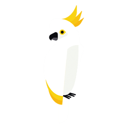 Ilustración de la cacatúa
