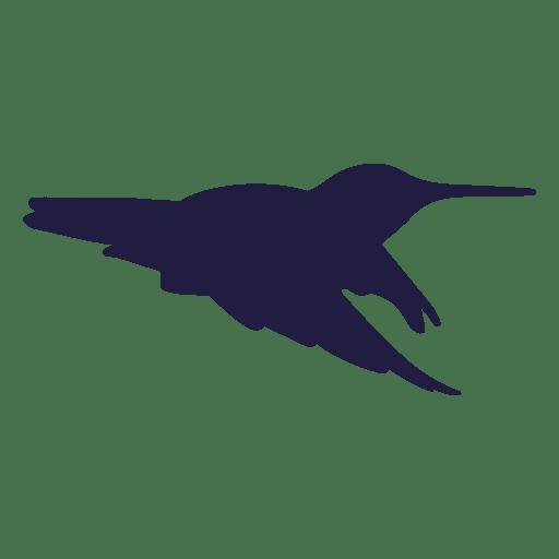 Colibri volando silueta Transparent PNG