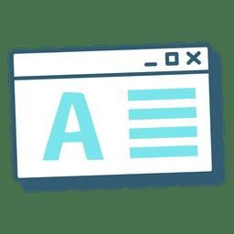 Computer window letter
