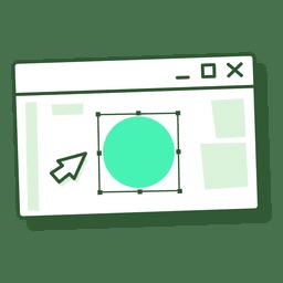 Vector de janela de computador