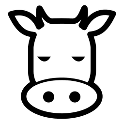 Cow avatar stroke